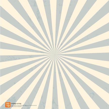 sol naciente: Nuevo vector Vintage sol naciente azul o el rayo del sol, sol irrumpieron diseño retro Vectores