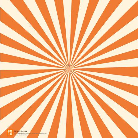 太陽光線または新しいオレンジ色の朝日、太陽バースト ベクター デザイン