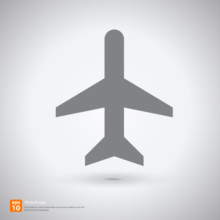 New Air plane sign with shadow vector icon design Vector