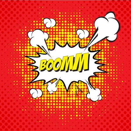 Cartoon, Boom  explosion Comic Speech Bubble Ilustração