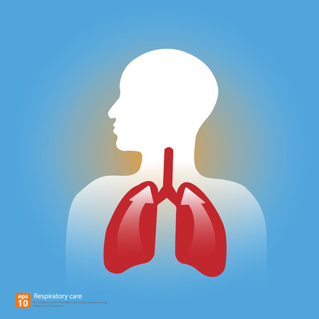 tuberculosis: respiratory icon vector with shadow Illustration