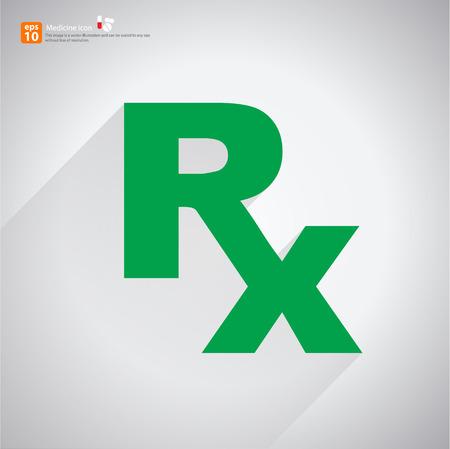 New Rx midical medicine sign vector Vector