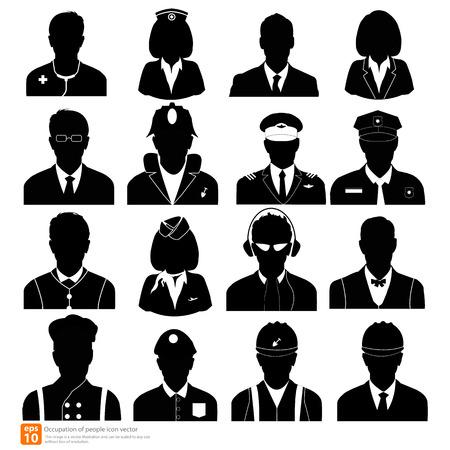piloto: Silueta Ocupaci�n hombre avatar fotos de perfil Vectores