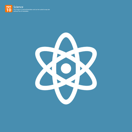 New science sign with shadow vector icon design Illustration