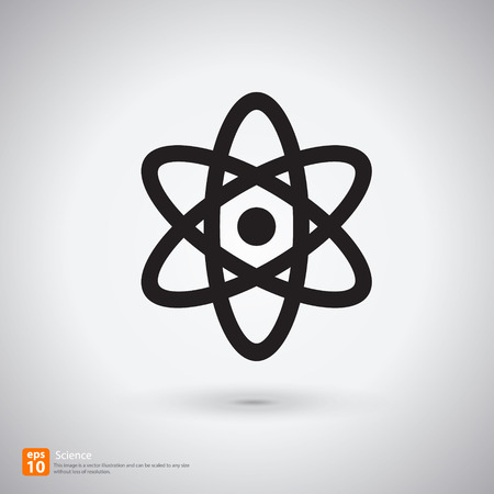 orbits: New science sign with shadow vector icon design Illustration