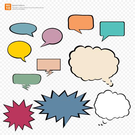 New vector Cartoon speech balloon, Comic Speech Bubble  icon Vector