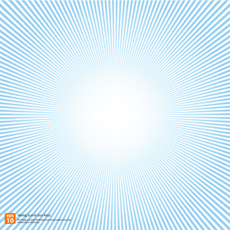 New rising sun or sun ray; sun burst vector design or Radial Speed Lines graphic effects for use in comic.