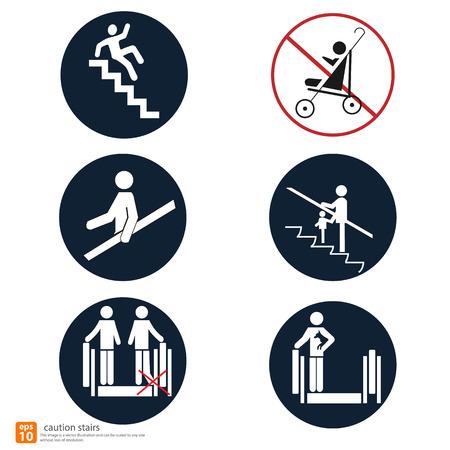 stair warning sign vector design Ilustração