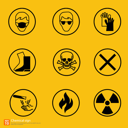 biological waste: New chemical sign warning vector design