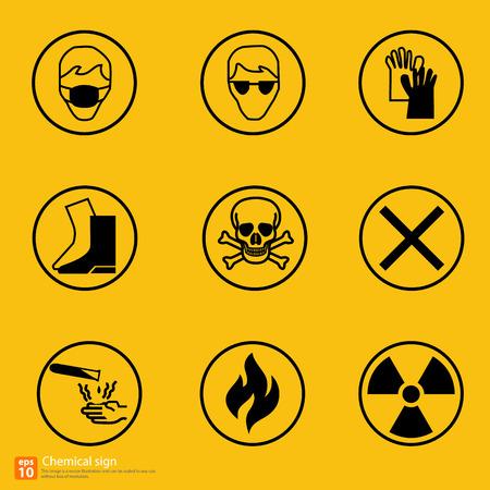 laser radiation: New chemical sign warning vector design