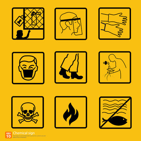 chemical hazard: New chemical sign warning vector design