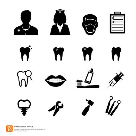 dentist drill: Doctor medical dentist icon vector