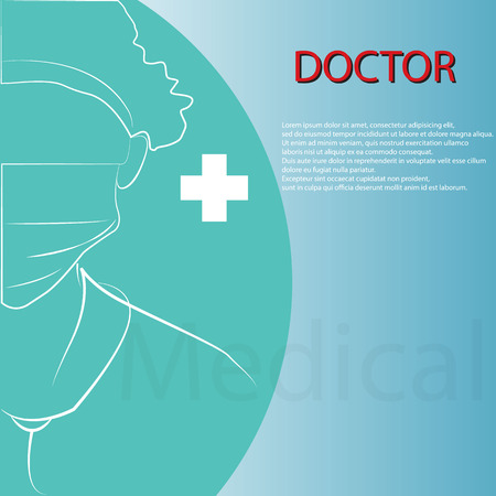 Doctor background vector design Vector