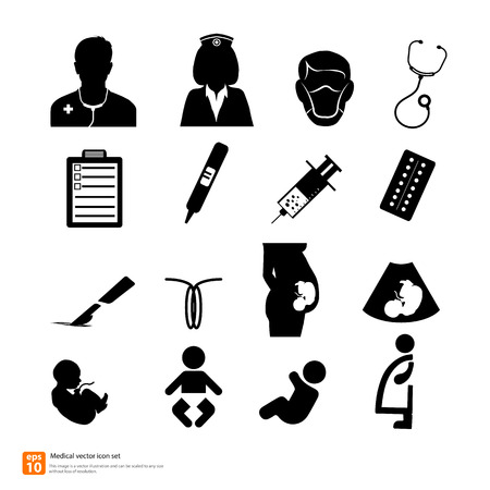 Doctor medical Obstetrics And Gynecology icon vector Vector