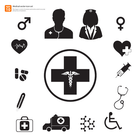 New Medical vector icon set Vector
