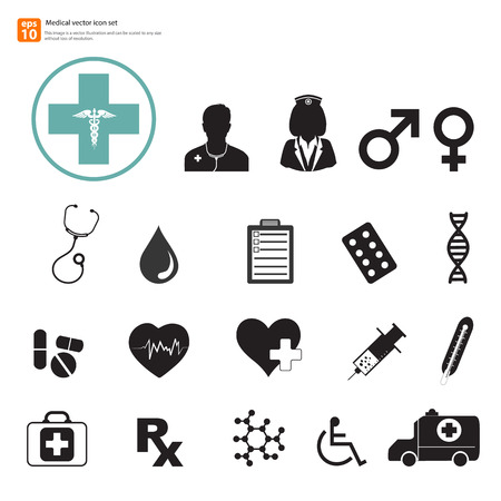 cpr: New Medical vector icon set Illustration
