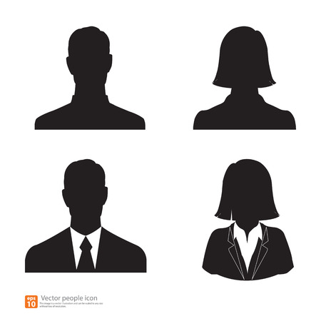 nude male: Set of vector men and women with business avatar profile picture Illustration