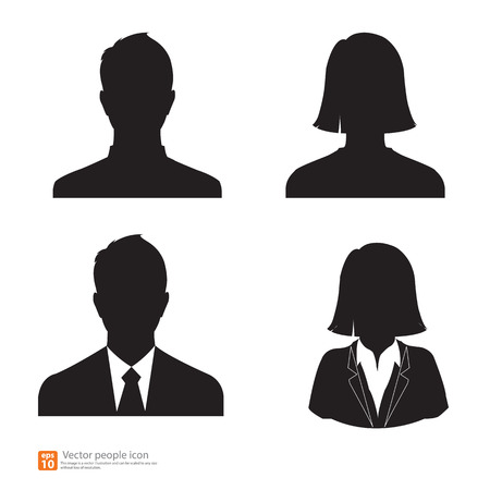 Set of vector men and women with business avatar profile picture Illustration