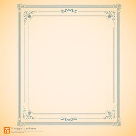 Vintage or Retro picture frame modern vector design Vector
