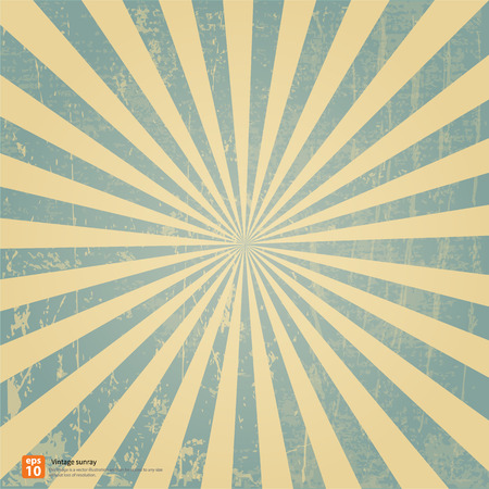 New vector Vintage blue rising sun or sun ray,sun burst retro background design Çizim