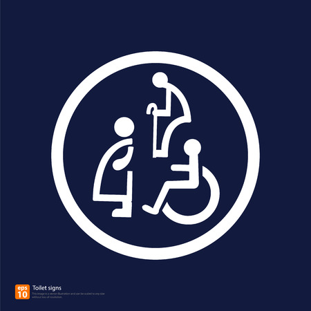 transgender: Restroom signs for Pregnant woman,Handicapped and Aged person