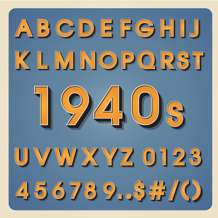 Vintage alphabet. Retro type font. 3d letters. Typography for your design. Vector illustration EPS10 Vector