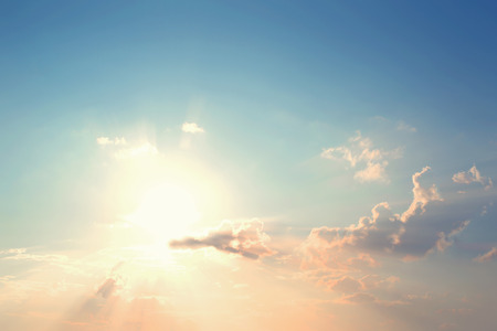 morning sky: Foto d'epoca di Natura sfondo astratto con cielo in tramonto