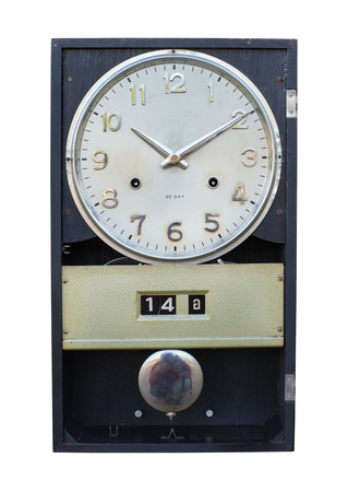 reloj de pendulo: relojes antiguos, vintage y diseño retro Foto de archivo