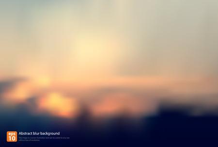 blurred lights: vintage abstract blur background in summer vector design Illustration