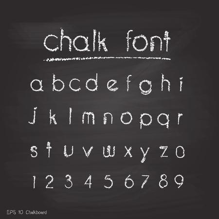lettres alphabet: Alphabet Chalk. Retro font.letters de type. Typographie pour votre conception. Vector illustration