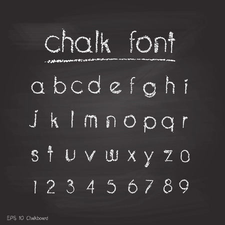 retro type: Chalk alphabet. Retro type font.letters. Typography for your design. Vector illustration