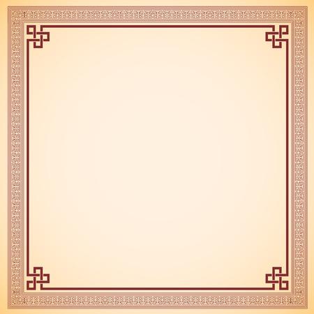 photoframe: Vintage chinese frame vector design