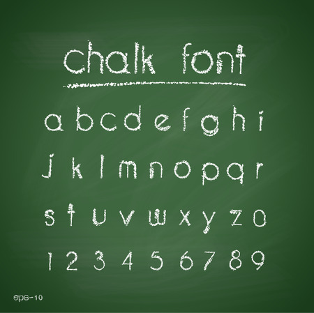 sign board: Chalk alphabet. Retro type font.letters. Typography for your design. Vector illustration