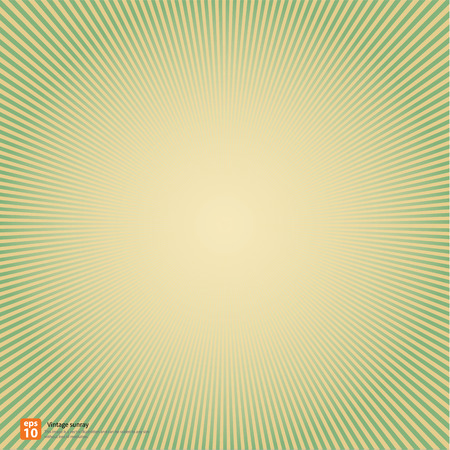 sun rays: New vector Vintage green rising sun or sun ray,sun burst retro background design