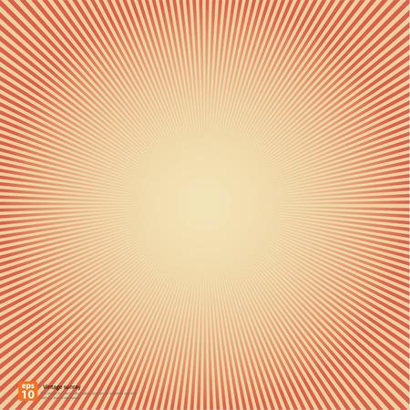 新しいベクトルのヴィンテージ赤太陽や太陽の光線、上昇太陽バースト レトロな背景デザイン