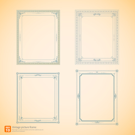 royal wedding: Vintage or Retro picture frame  vector design