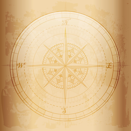 Vintage compass ,old and grunge effect vector design Illustration
