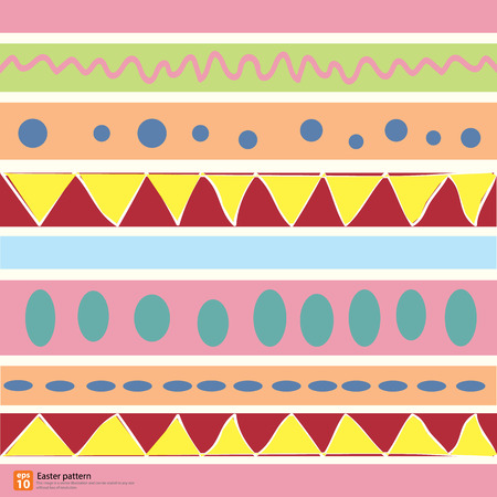 Colorful pattern for eggs easter day vector design