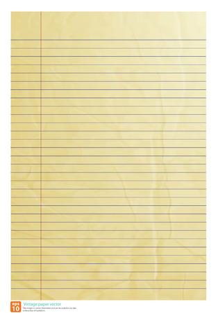 Vintage paper line be crumpled vector format Vectores