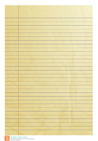 old notebook: Vintage paper line be crumpled vector format Illustration