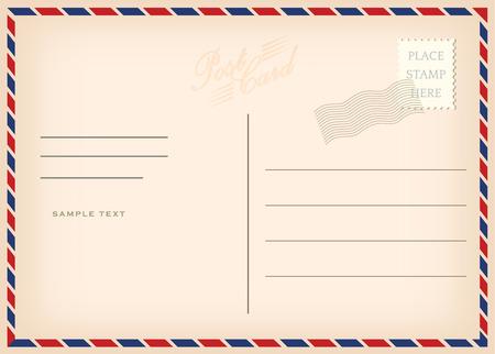 Vintage poscard, vector design
