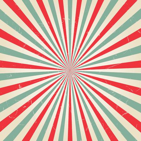 Nieuwe vector vintage Rode rijzende zon of in de zon ray, zon barstte retro achtergrond ontwerp
