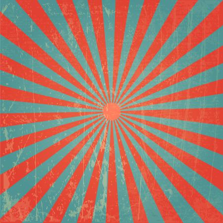 Nouveau vecteur Vintage Red Rising Sun ou rayon de soleil, le soleil éclate la conception de fond rétro