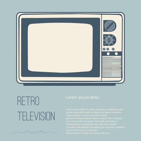 vecter: Retro television (tv) with Space for text editing vecter design
