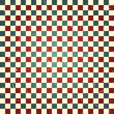 Vintage Checkerboard pattern, vector design