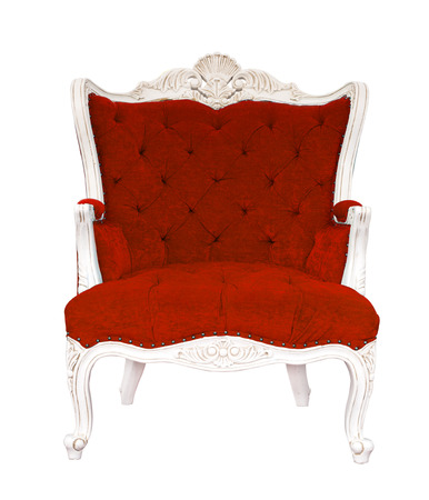 red chair: isolated vintage red armchair classical style sofa