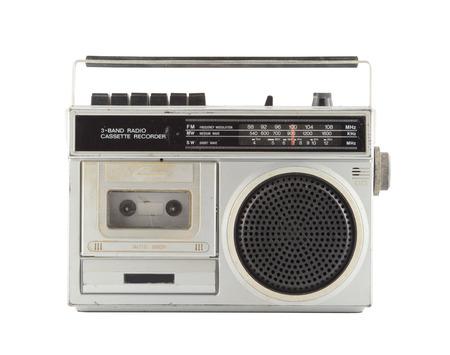 Vintage Radio isolate on white Archivio Fotografico