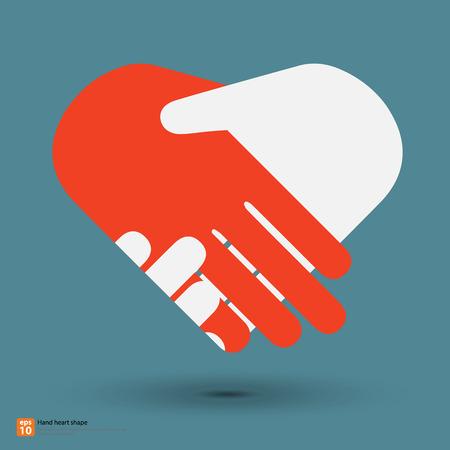 Poignée de main en forme de coeur Banque d'images - 39594990