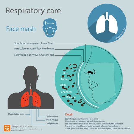 care: infographic of respiratory care Illustration