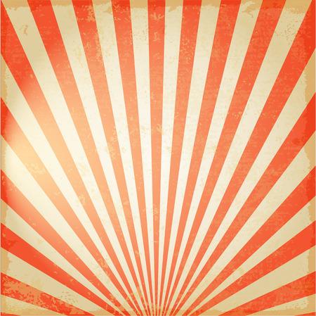 新しいヴィンテージ赤太陽や太陽の光線、上昇太陽バースト レトロな背景デザイン  イラスト・ベクター素材